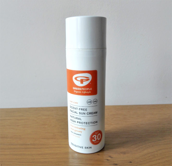 Green People facial sun cream SPF 30