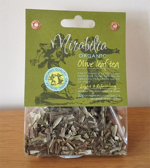 organic olive leaf tea from Mirabilia