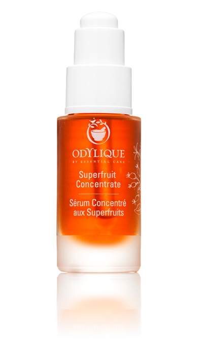 A full size bottle of Odylique Superfruit Concentrate