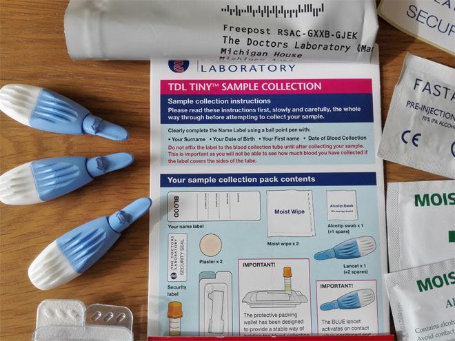 home blood test kit