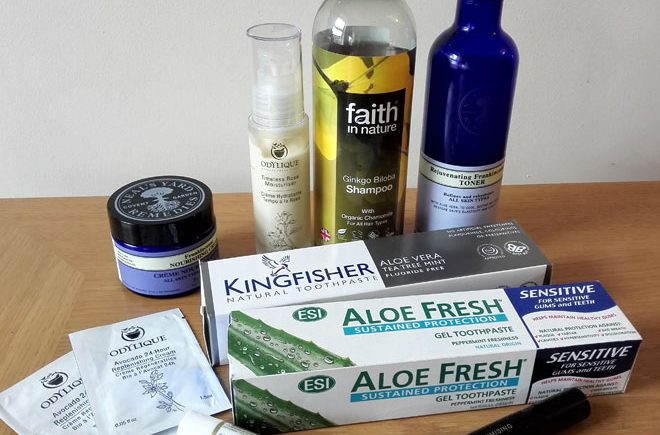 natural beauty products bought recently