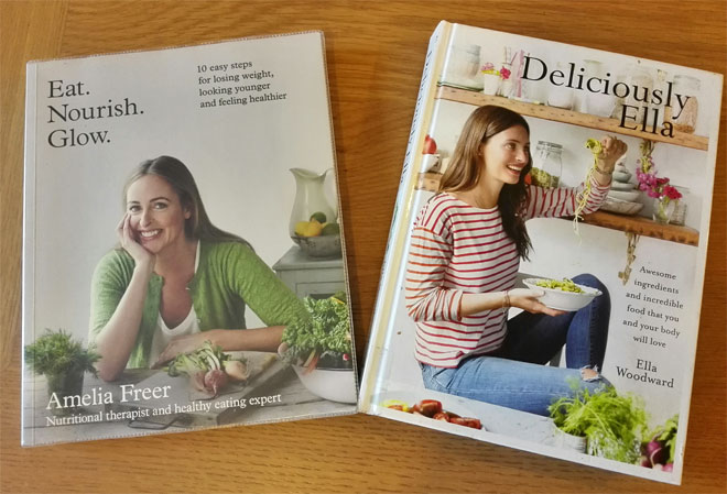 healthy eating books: Deliciously Ella and Eat.Nourish.Glow
