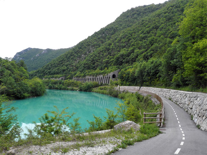 cycling trail by soca river
