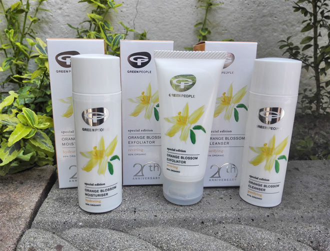 green people orange blossom collection review