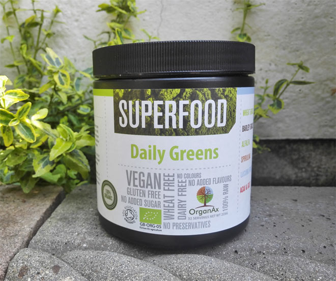 Organax daily greens superfood powder