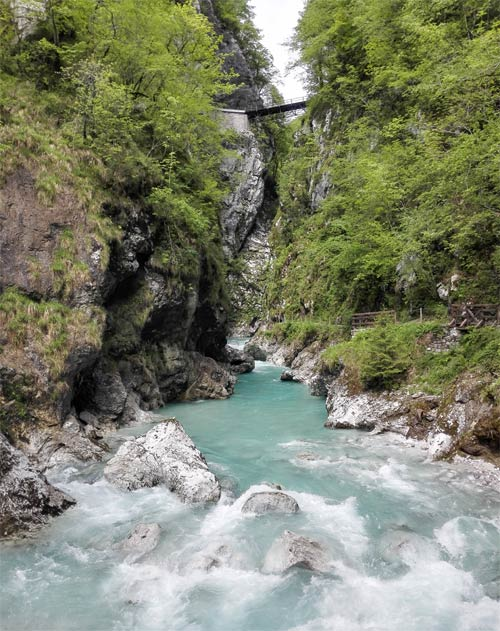 beginning of Tolmin gorge