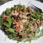 buckwheat salad on a plate