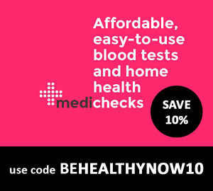 Medichecks discount code - Get 10% off - use code BEHEALTHYNOW10