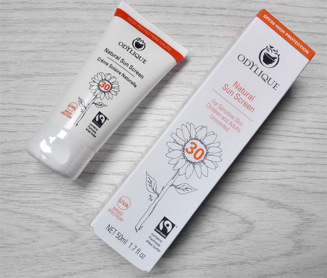 odylique natural sunscreen spf 30