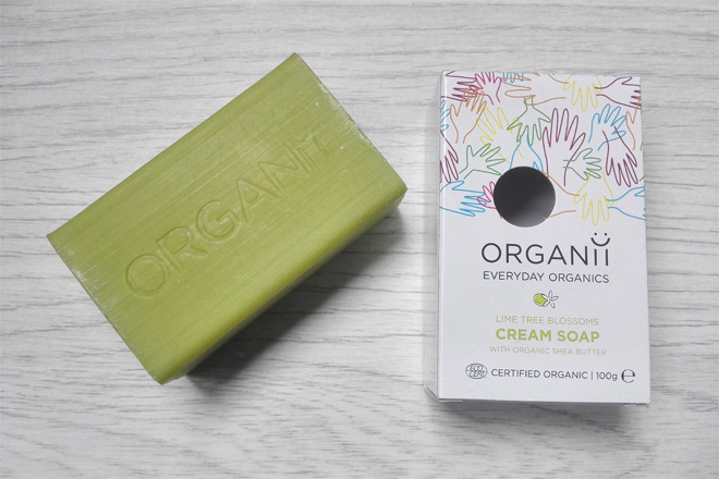 organii organic lime tree cream soap
