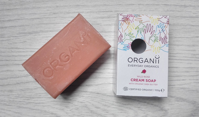 organii wild rose cream soap