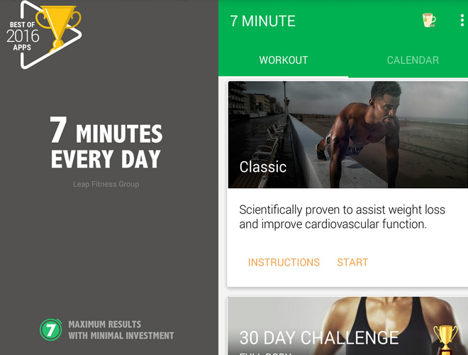 7 minute -workout app