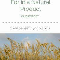 5 Ingredients to Look For in a Natural Product
