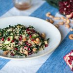 christmas salad: bulgur and cavolo nero