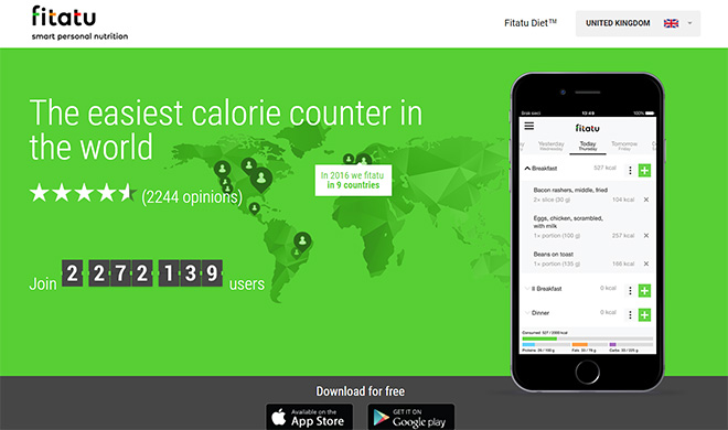 fitatu calorie counting app - best calorie counter in the world
