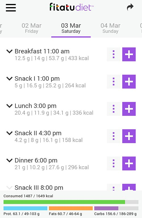 fitatu diet app screenshot