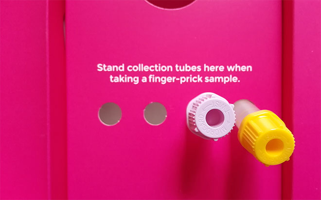 holding slots for collection tubes