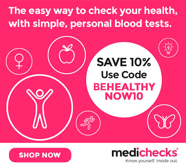 Save 10% on Medichecks blood tests - use code BEHEALTHYNOW10