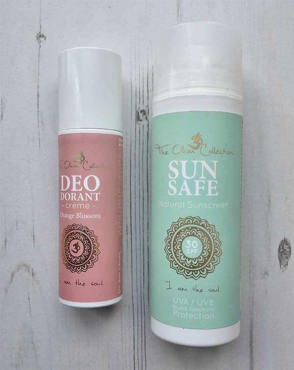 the ohm collection deo creme and sunscreen