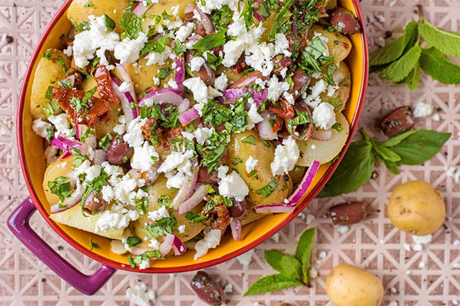 satisfying Mediterranean Potato Salad