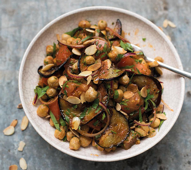 chickpea and aubergine salad by Amelia Freer