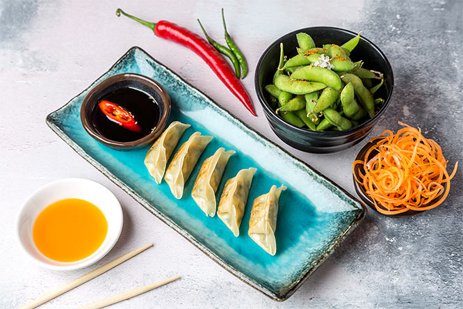 Yasai Gyoza vegetable dumplings