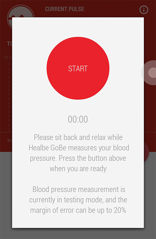 gobe 2 - measuring blood pressure