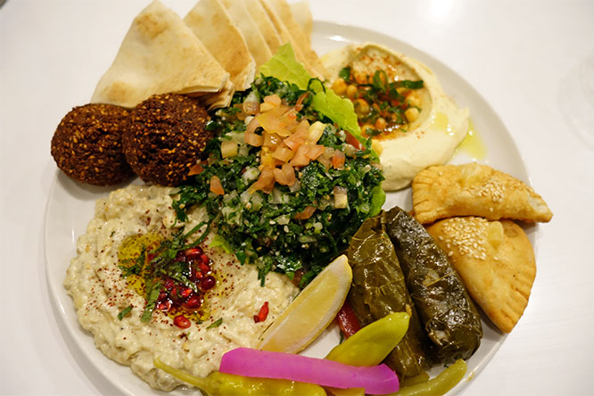mezze platter for two
