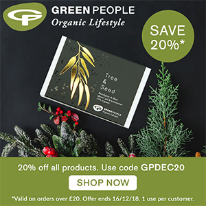 Green People - 20% off all products, valid on orders over £20, use code GPDEC20
