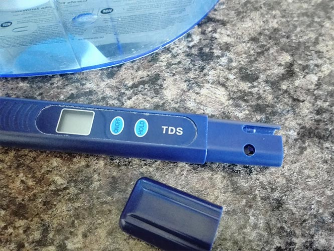 free tds meter supplied with Zerowater jug