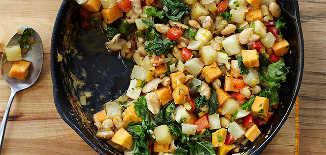 Vegetable White Bean Hash
