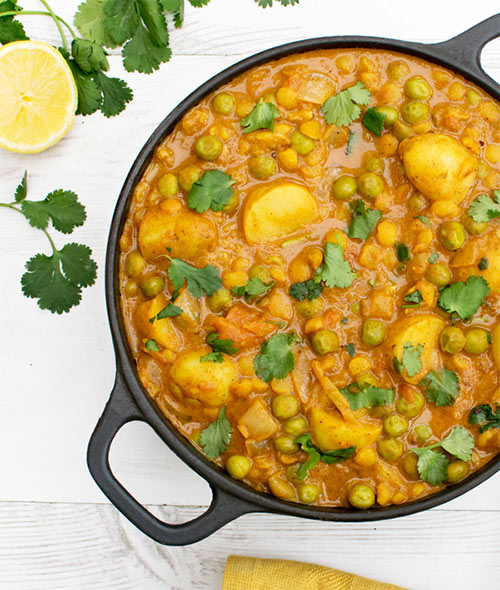 Vegan New Potato Pea Curry - by The Flexitarian