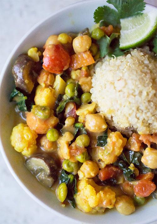 Vegan gluten-free Thai Coconut Vegetable Curry