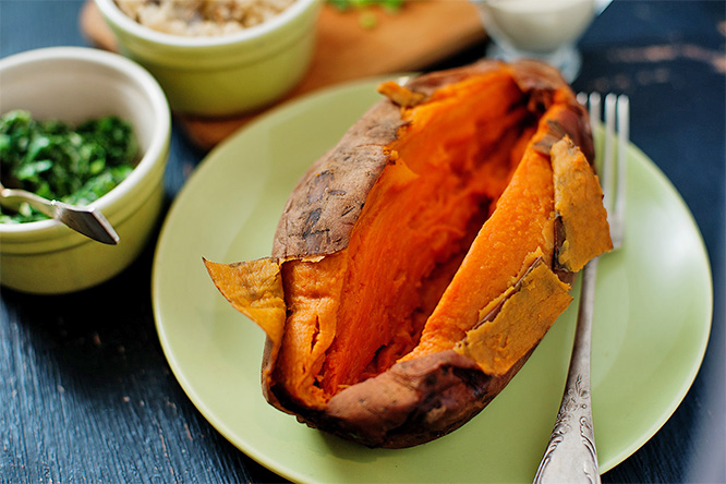 baked sweet potato with no filling