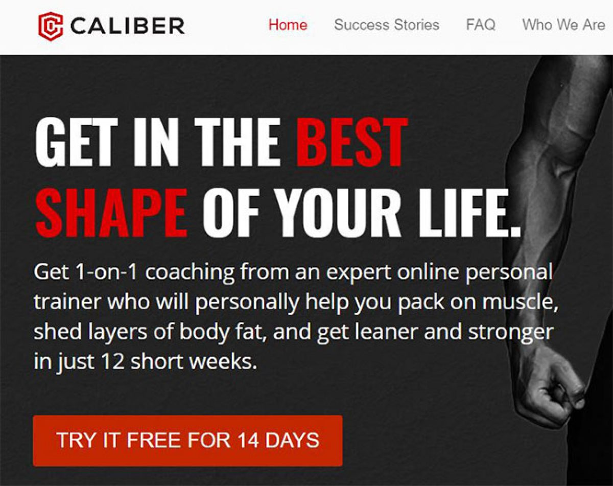 Online Personal Training From Caliber Fitness Review Free Trial
