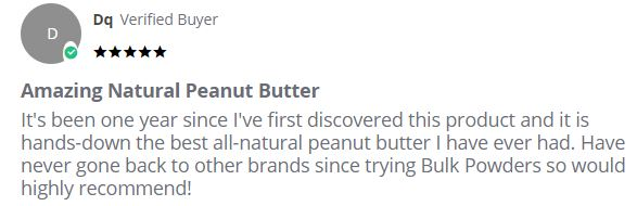Bulk Powders peanut butter review2