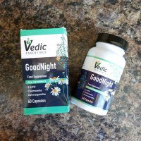 Sleep better at night naturally with Vedic Essentials GoodNight sleep aid