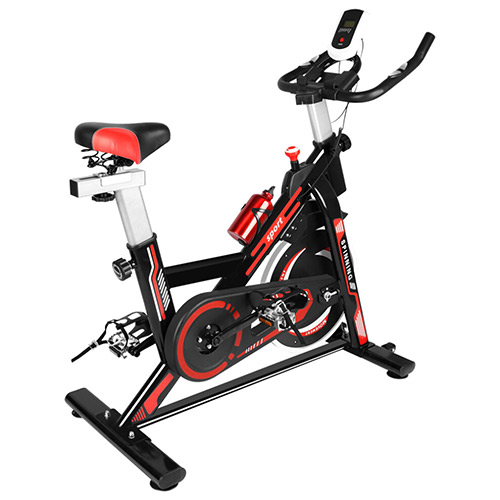 ultra quiet stationary resistance spin bike with lcd monitor
